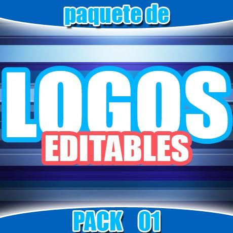 fantástico pack de logotipos editables envío gratis