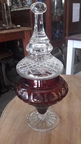 fantástico potich cristal bordó. cód.: #1234