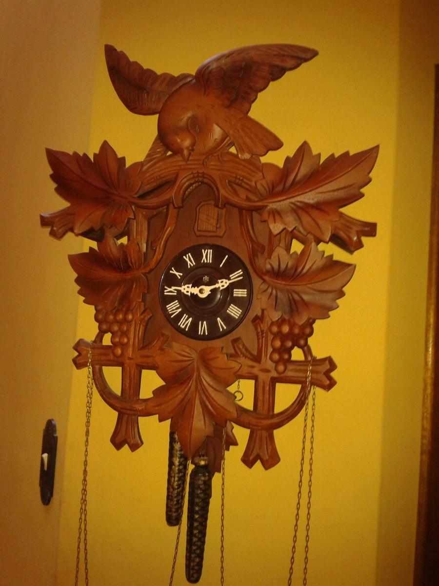 db286be3147 Fantástico Relógio Cuco Marca H 203 Cacho Uva - Década 1950 - R ...