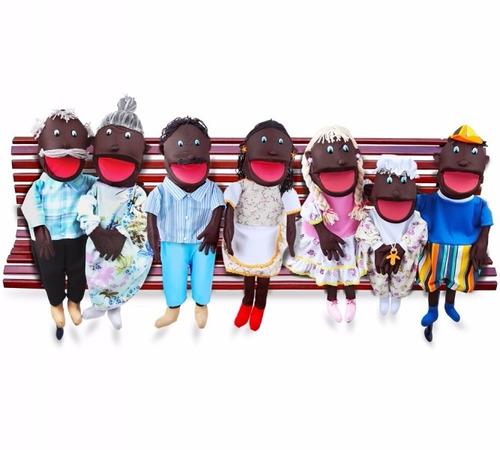 fantoches família negra gigante - carlu