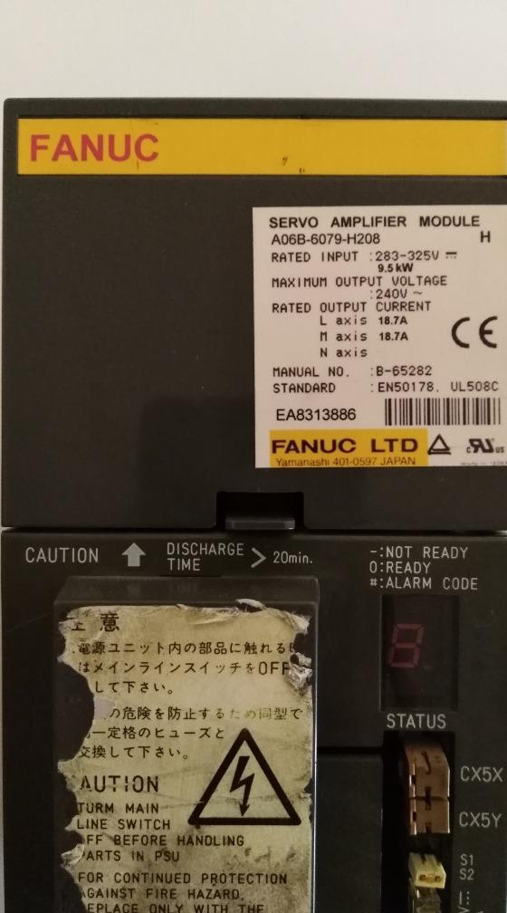 Fanuc Power Supply A06b-6079-h208 - $ 20,000 00