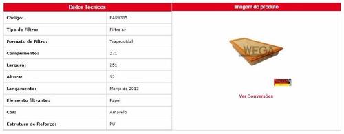 fap 9285 filtro de ar bmw serie 5 528 i 12 adiante ...