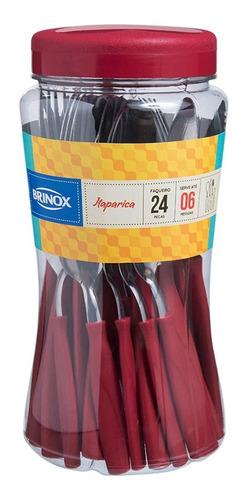 faqueiro itaparica 24 peças inox 6000 brinox