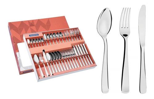 faqueiro tramontina em aço inox com facas de mesa