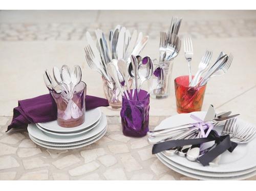 faqueiro tramontina em aço inox com facas de mesa forjadas