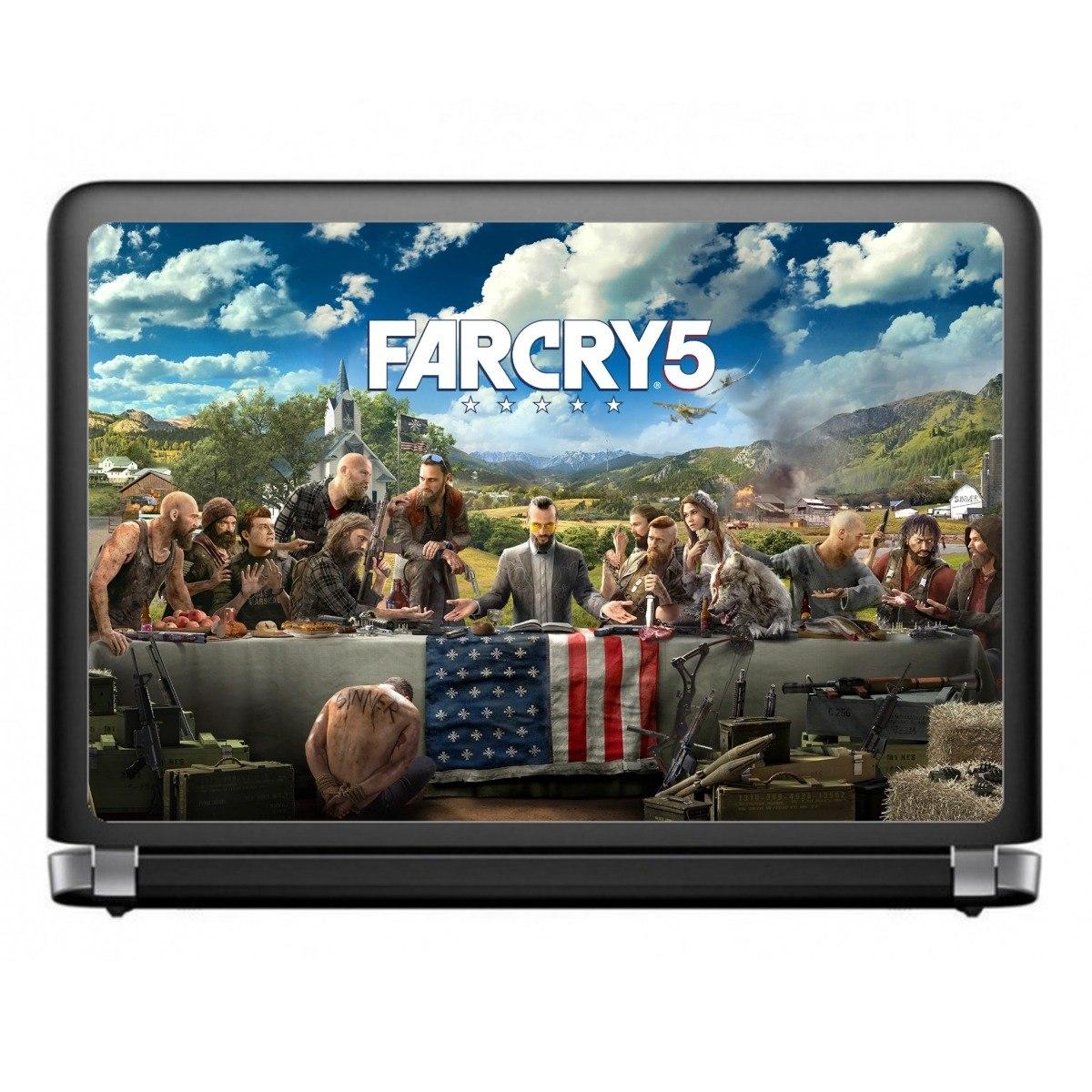 Far Cry 5 Games Geek - Skins Adesivos P/ Tampa Notebook