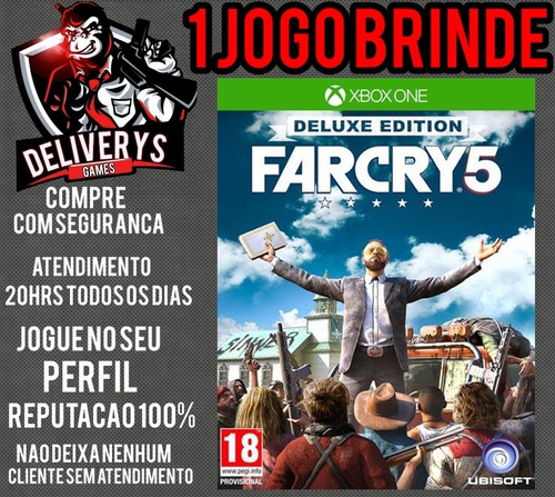 far cry 5 xbox one midia digital + 1 brinde