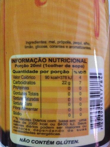 far-mel - composto de mel, própilis, pequi, limão e alho