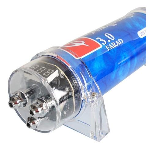 farad car power   farad capacitor led voltage displ...