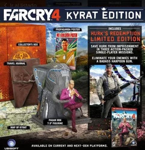 farcry 4 kyrat ultimate caja de colección xbox 360 + libro