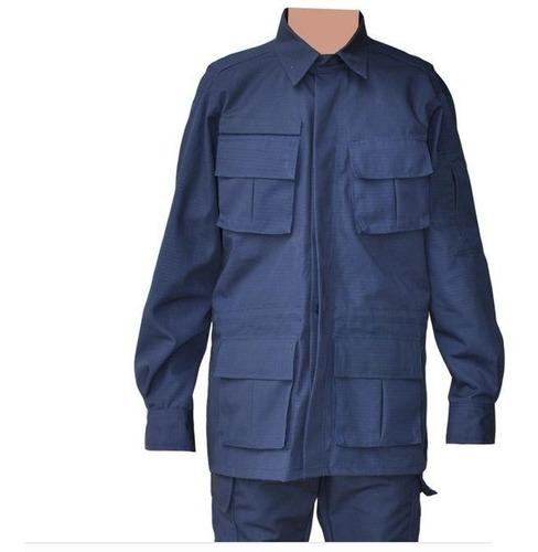 farda militar combate rip-stop azul guarda municipal