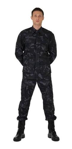 farda militar combate rip-stop camuflado petroleo oficial