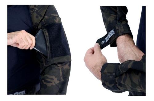 farda militar uniforme tático hrt multicam black dacs origin