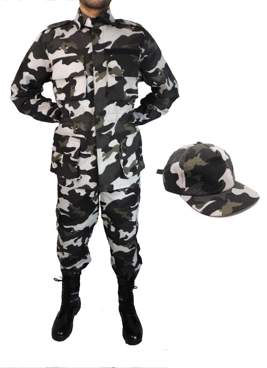 Farda Tática Combat + Boné - Camuflado Urbano - Choque - R  272 bf22f459da9
