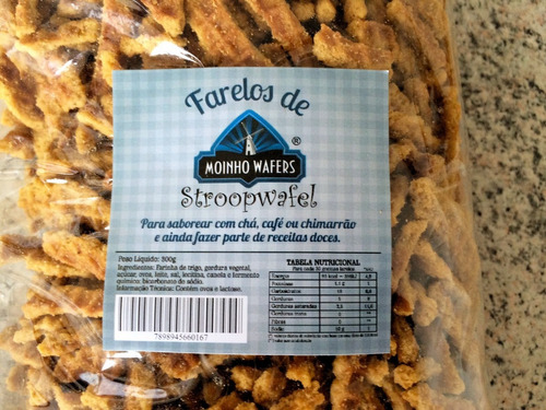 farelo de stroopwafel biscoito holandês - 5 pacotes