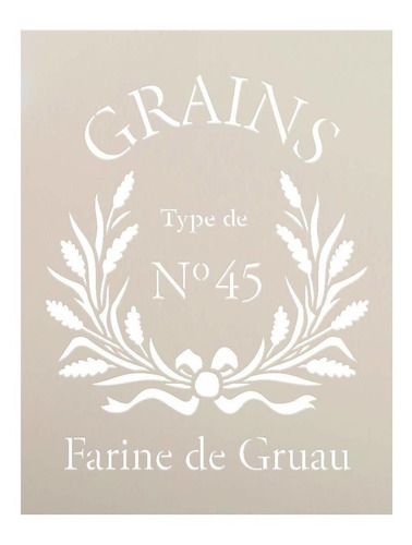 farine de gruau stencil by stu   french grains word art...