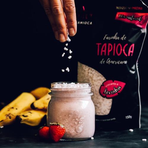 farinha de tapioca flocada 150g. 100% natural. sem glúten