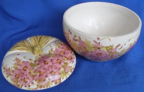 farinheira em porcelana pintada a mao numerada