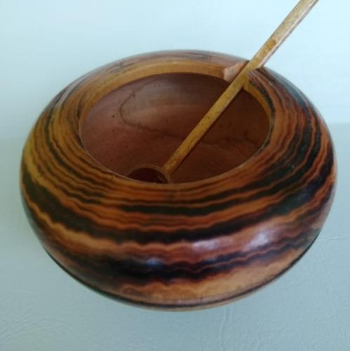 farinheira farinheiro em madeira com colher ref: 9204