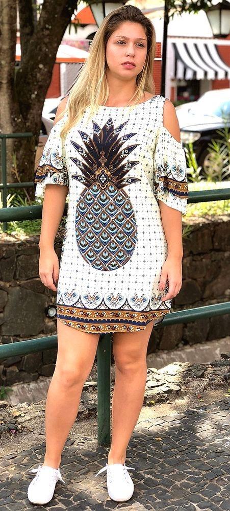 33a494740 Farm Vestido Babado Lenço Do Sol - R$ 229,90 em Mercado Livre
