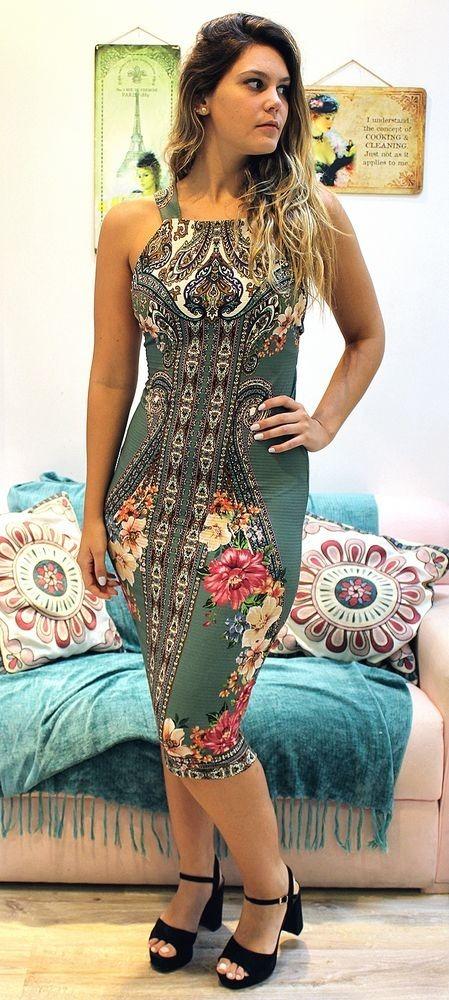 5342ca6ad Farm Vestido Cavão Tunisia - R$ 229,90 em Mercado Livre
