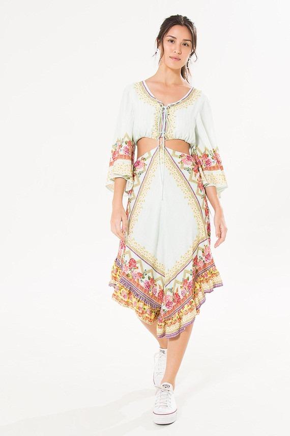 7402f6855 Farm Vestido Colombiana - R$ 390,00 em Mercado Livre