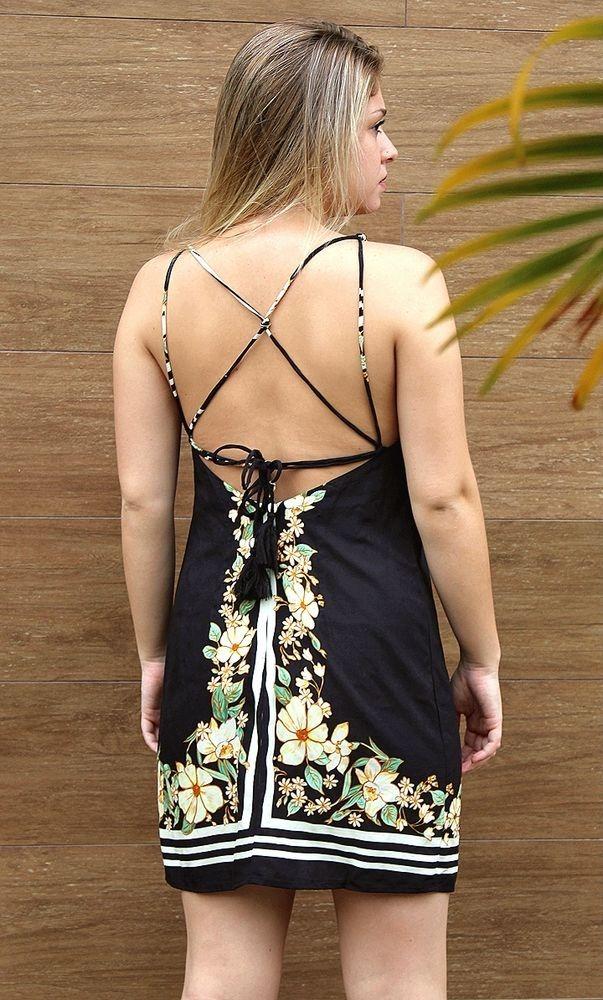 b4894c3d9 Farm Vestido Curto Cachoeira De Flor - R$ 198,90 em Mercado Livre