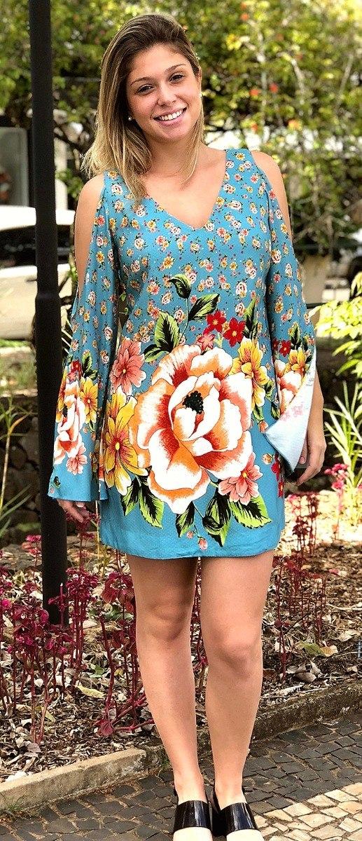 583687f28 farm vestido curto liberty flor. Carregando zoom.