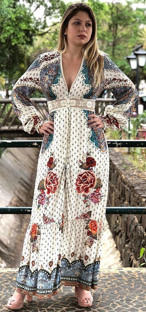 74168c745 farm vestido longo borboleta mística renda cintura. Carregando zoom.