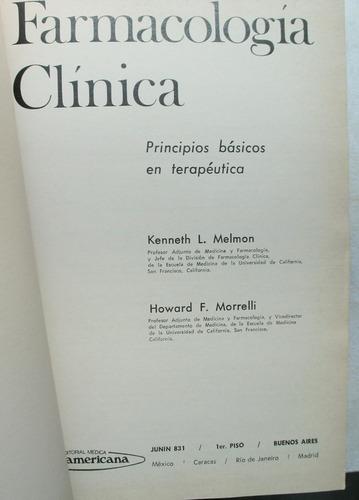farmacología clínica / melmon - morrelli (1975)