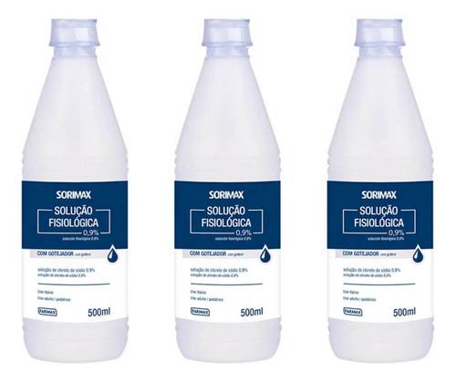 farmax soro fisiológico 500ml (kit c/03)