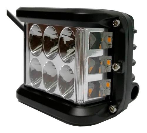 faro 12 leds 36 w luz blanca y luz naranja funcion estrobo!