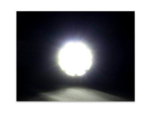 faro 9 led redondo 12w luz fija slim