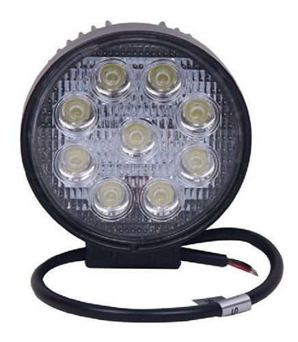faro auxiliar led ii41 27w 9 leds redondo