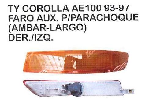 faro auxiliar para parachoque toyota corolla ae100 1993 - 97