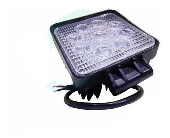 faro auxiliar proyector  cuadrado 9 led 27w agro vehículo