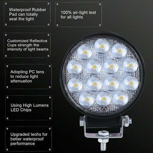 faro auxiliar reflector led proyector spot 14 led 42w off road 4x4 x 2 unidades - 112 mm diametro