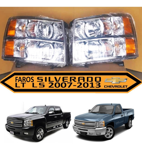 faro chevrolet silverado rey camion 2007 2008 2010 2013 2015
