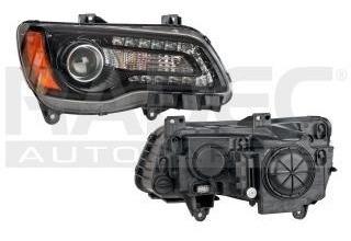 faro chrysler 300 c 2011-2012-2013 4 puertas negro