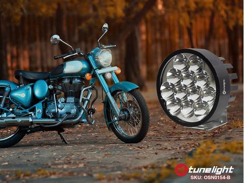 faro con 12 led 24w con estrobo/base para motocicletas autos