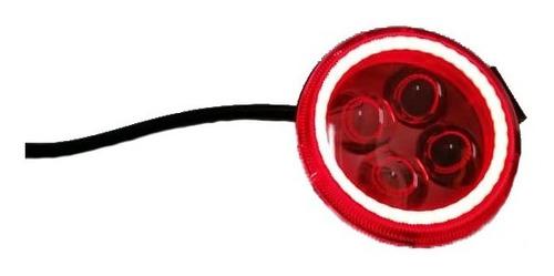 faro de 4 led circular con ojo de angel 12 w rustico tienda!