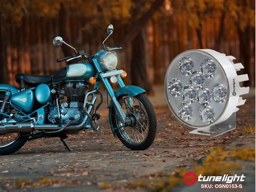 faro de 9 led 18w estrobo universal para motocicletas/atv