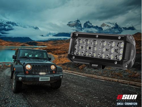 faro de led osun® de alta intensidad con 72w tipo barra 100% metal + bases universales ideal para autos/motos/camiones
