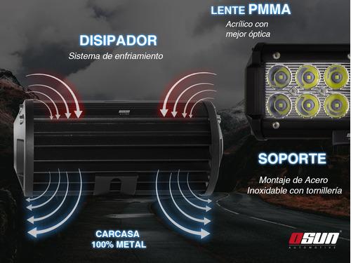 faro de led osun® tipo barra de 36w alta intensidad carcasa 100% metal + bases universales para autos 4x4 camiones motos