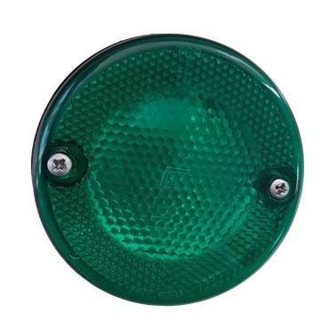 faro delimitador liso aplique verde ap-630 88x33