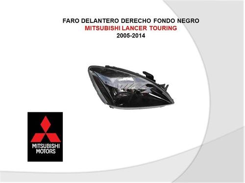 faro derecho fondo negro mitsubishi lancer touring 2005-2014