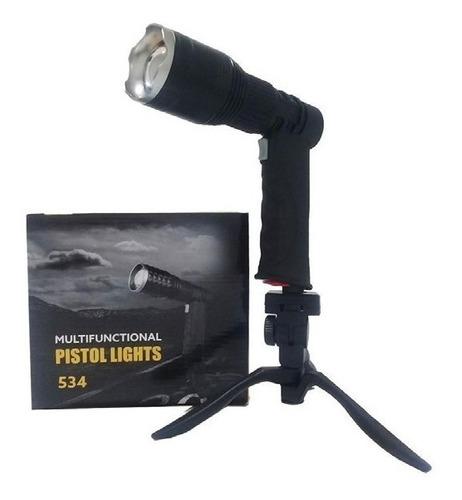 faro foco luz verde caza pesca c/tripode y zoom bentancor ou