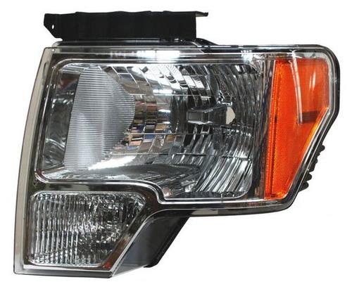 faro ford pickup 2012-2013-2014 lobo fondo cromado piloto