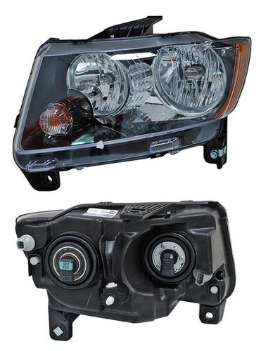 faro jeep compass 14-15 fondo negro izquierdo