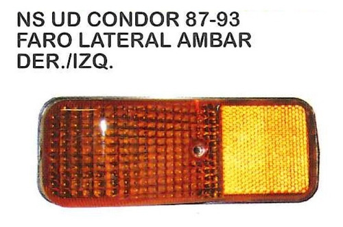 faro lateral ambar nissan ud condor 1987 - 1993 camion